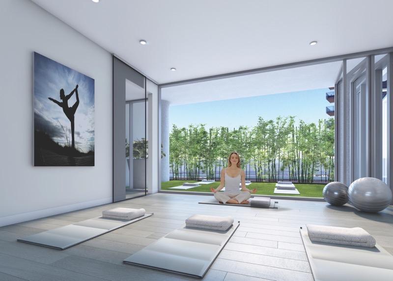Nautique Condos Yoga Room