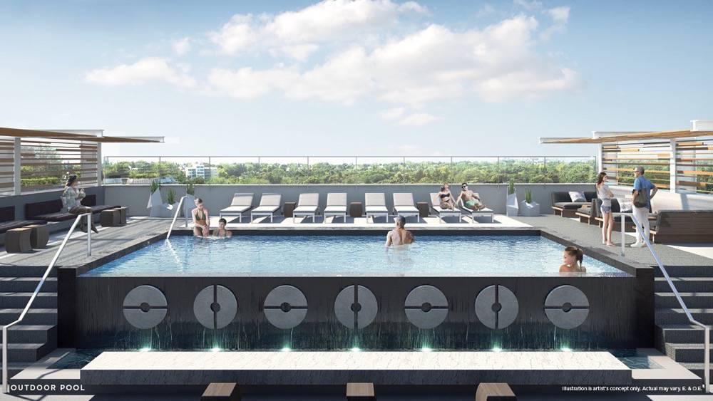 Outdoor pool at Vita on the Lake Condos