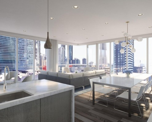 Interior view of 24 Mercer Condos