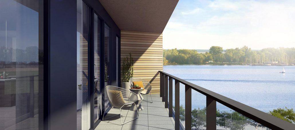 Aquabella Condos Balcony Overlooking Lake Ontario