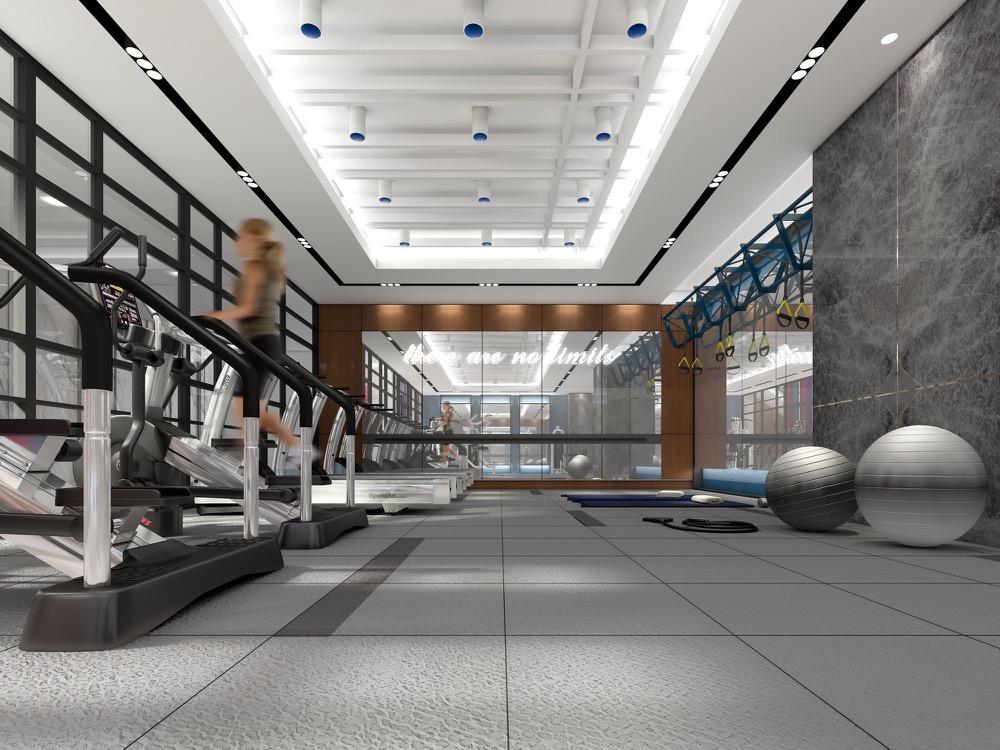 Gym at Aquabella Condos