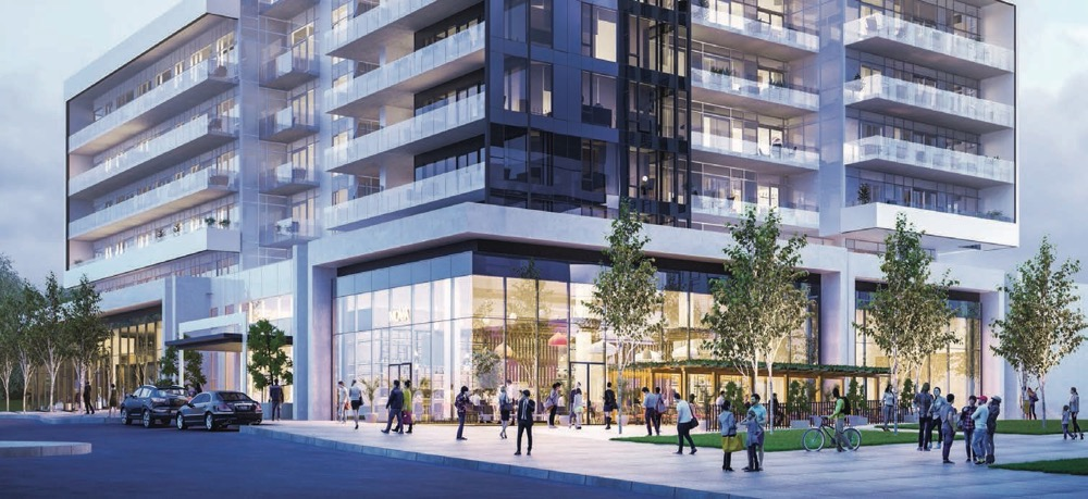 Podium rendering for Rodeo Drive Condos Phase 2