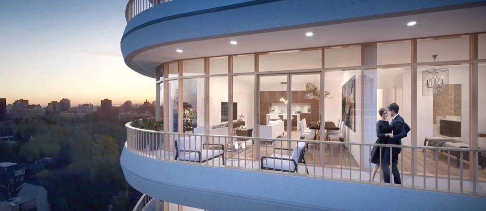 Avenue 151 Yorkville Condos Balcony View