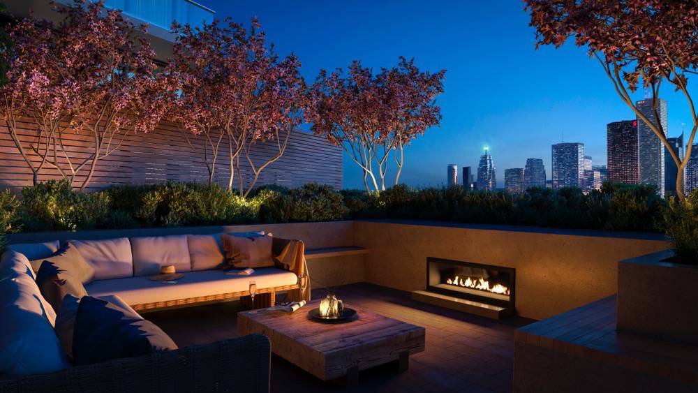 Rooftop Fireplace at Home Condos