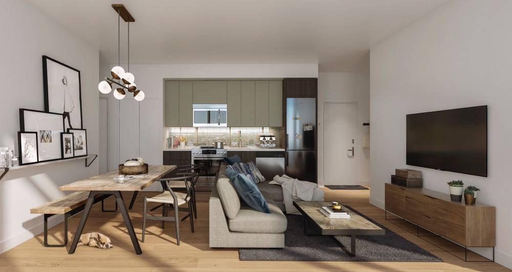 Great Room Rendering at Home Condos