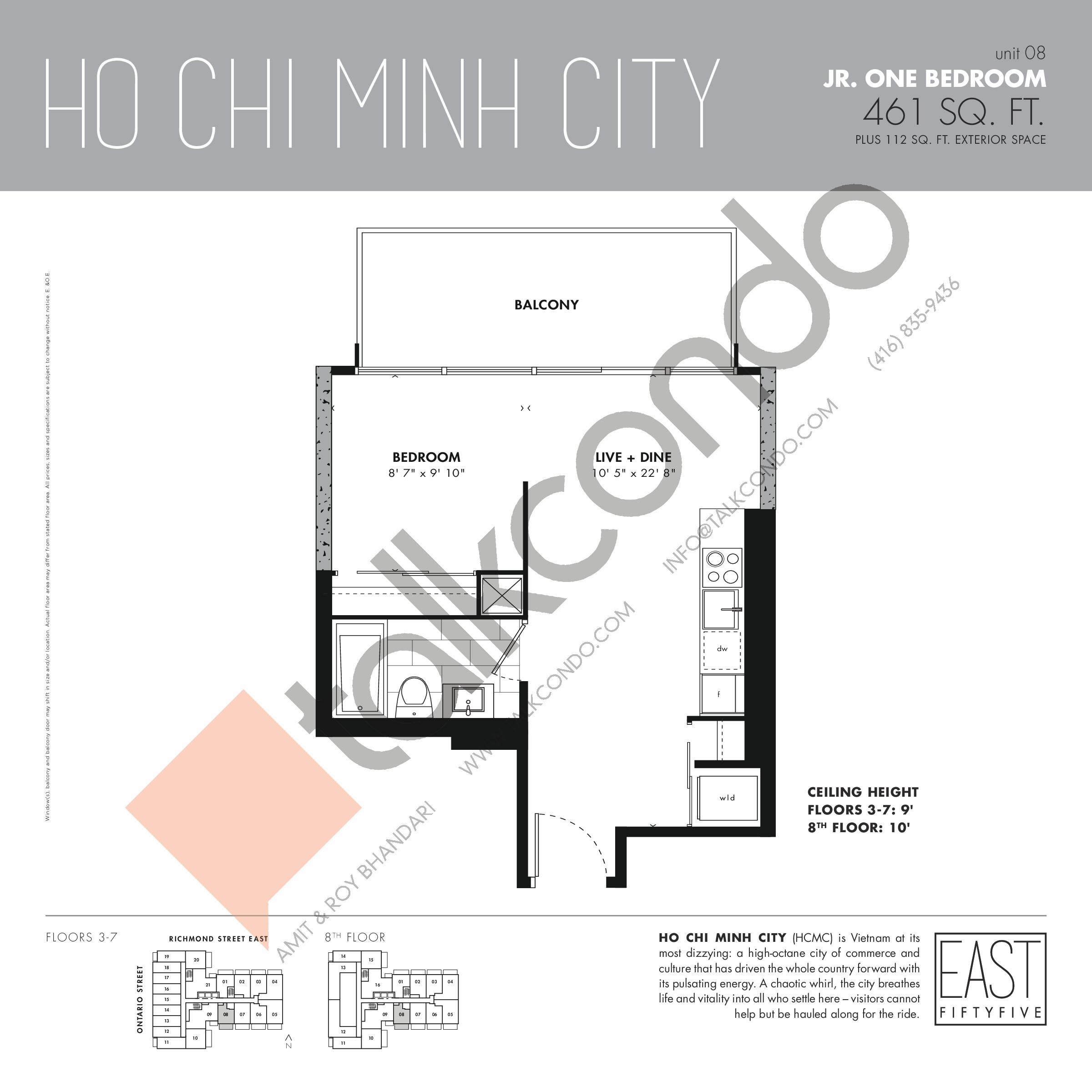 East 55 Condos Ho Chi Minh City 461 Sq Ft 0 Bedroom
