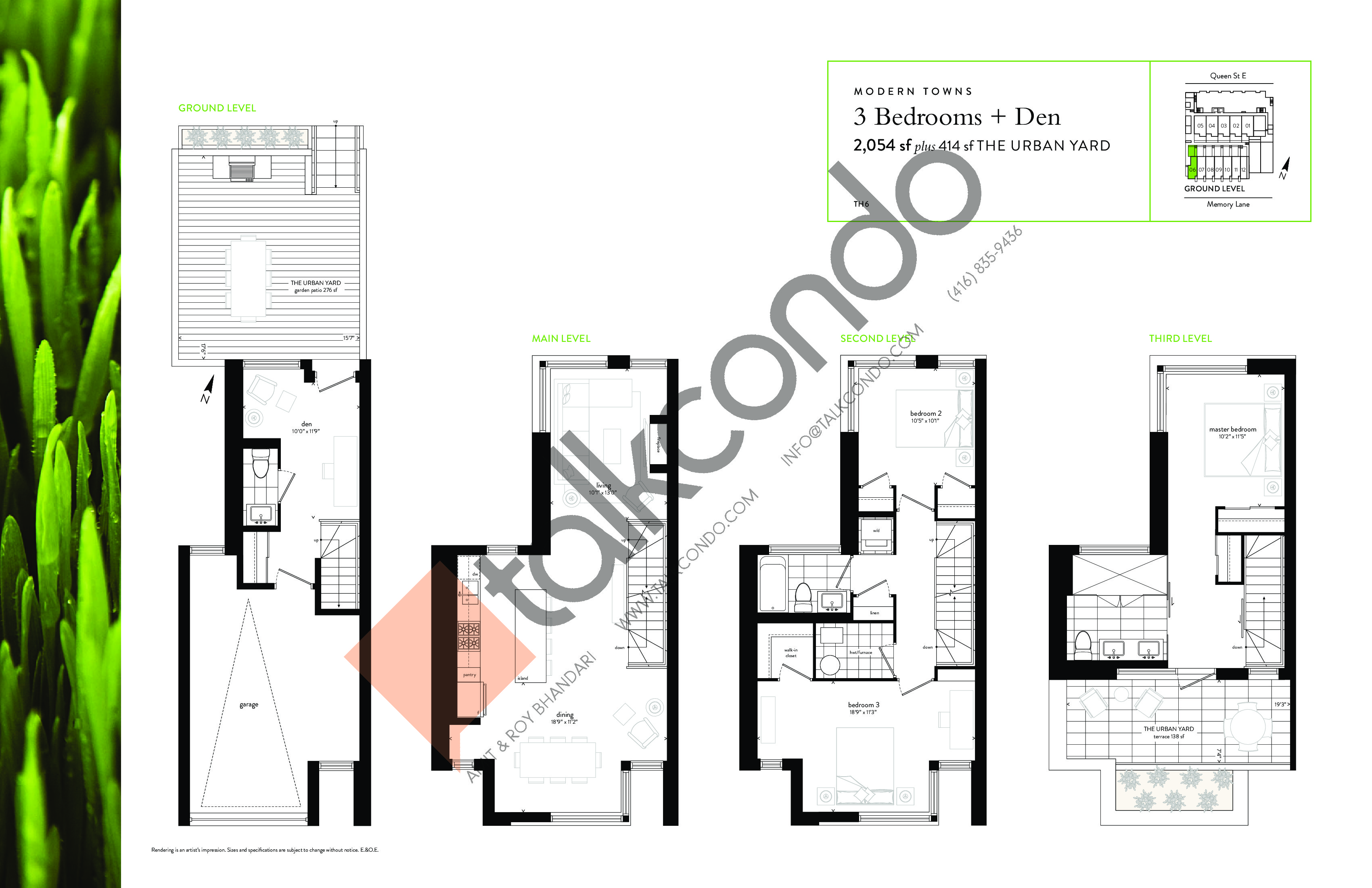 Modern Towns Floor Plan at George Condos & Towns - 2054 sq.ft