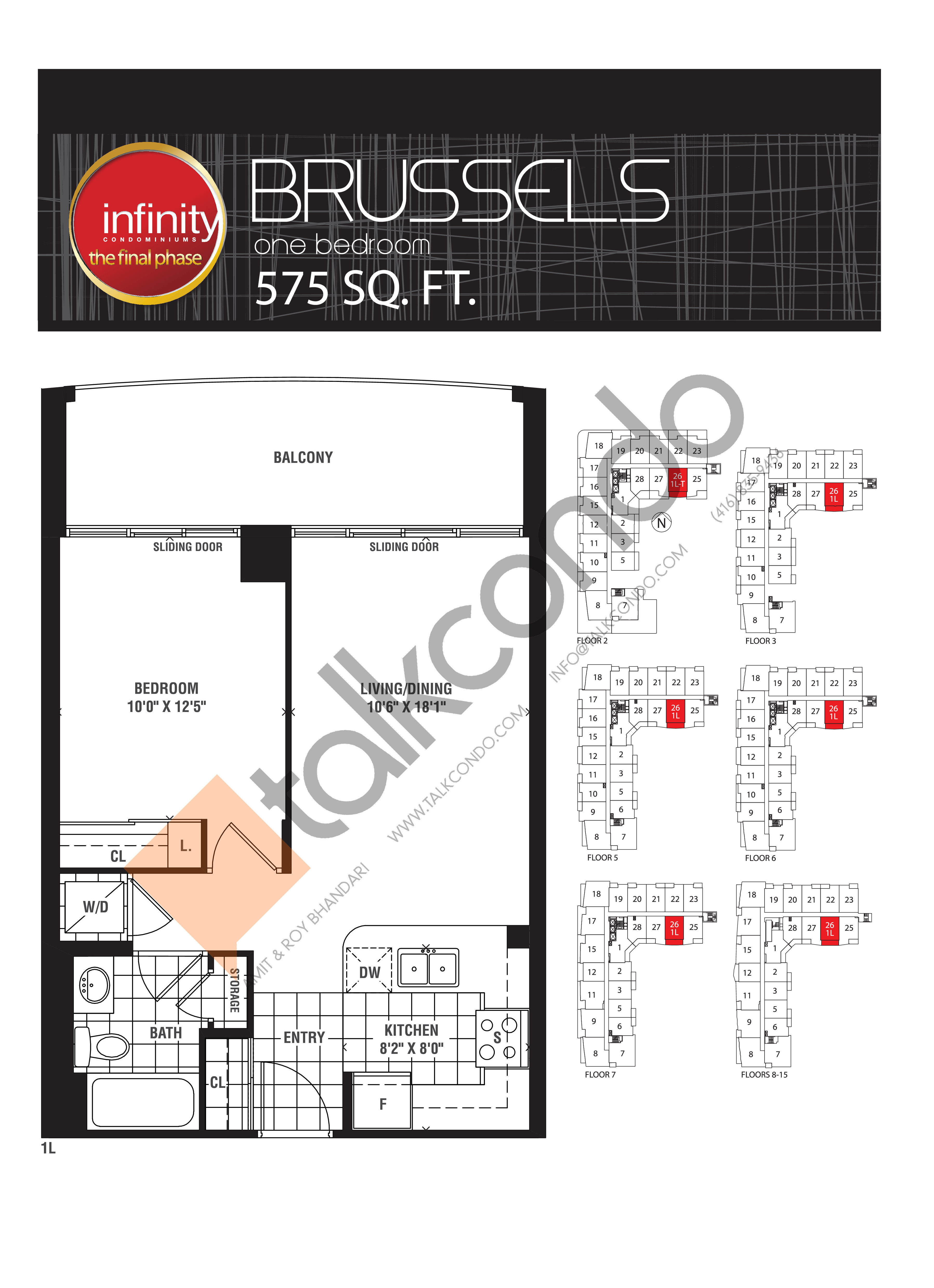 Brussels Floor Plan at Infinity: The Final Phase Condos - 575 sq.ft