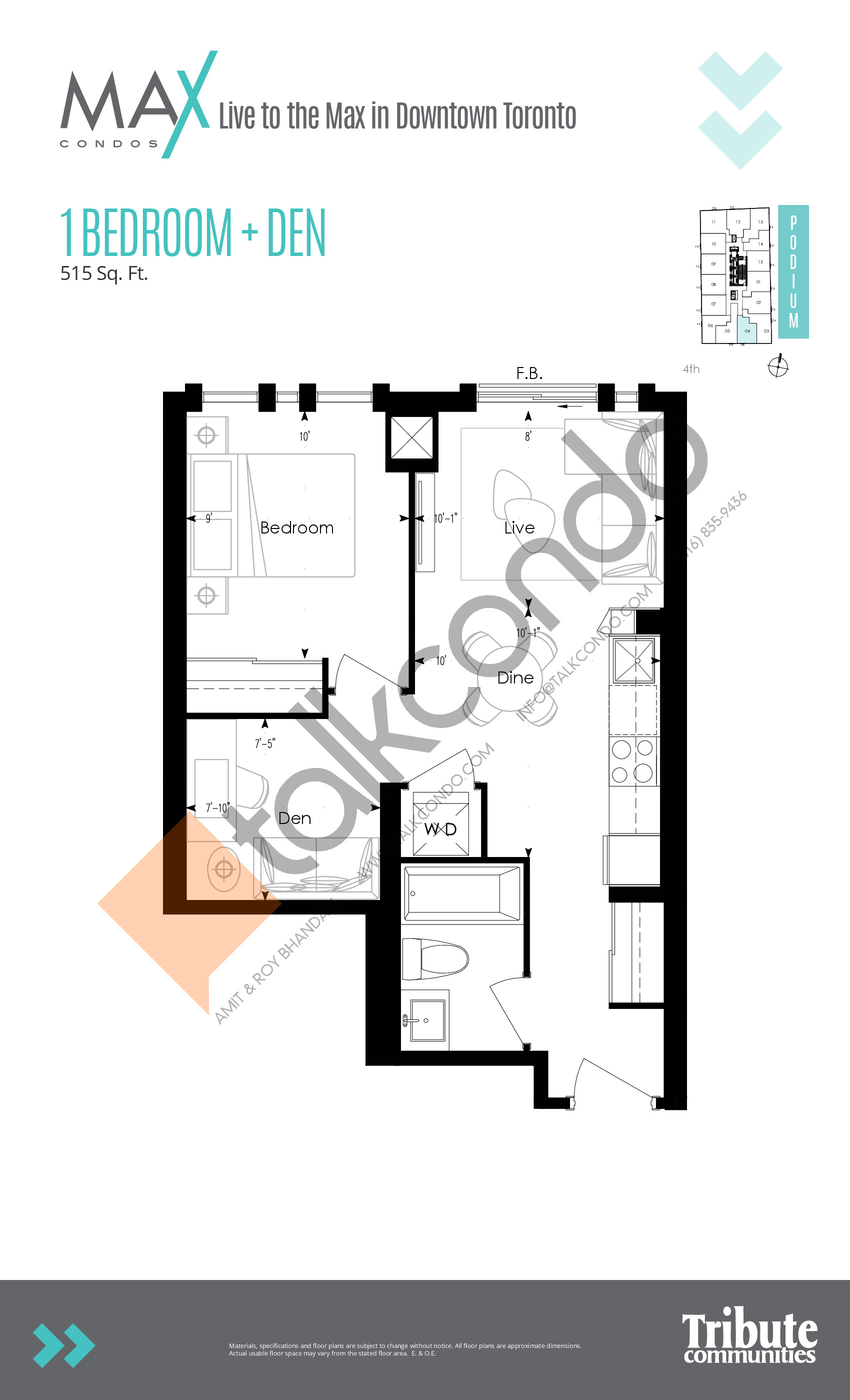 Suite 09 Floor Plan at Max Condos - 665 sq.ft