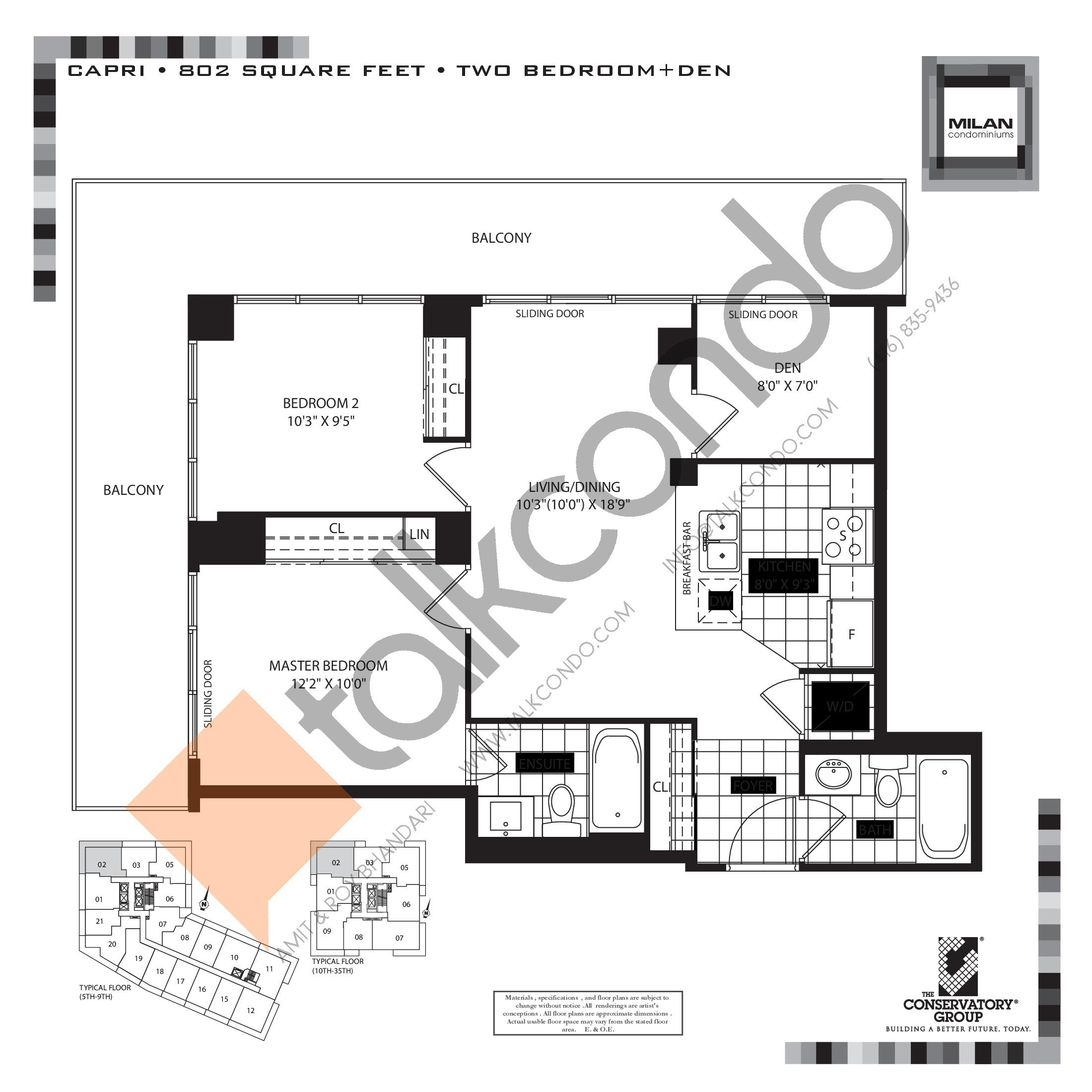 Milan Condos Floor Plans Prices Availability Talkcondo