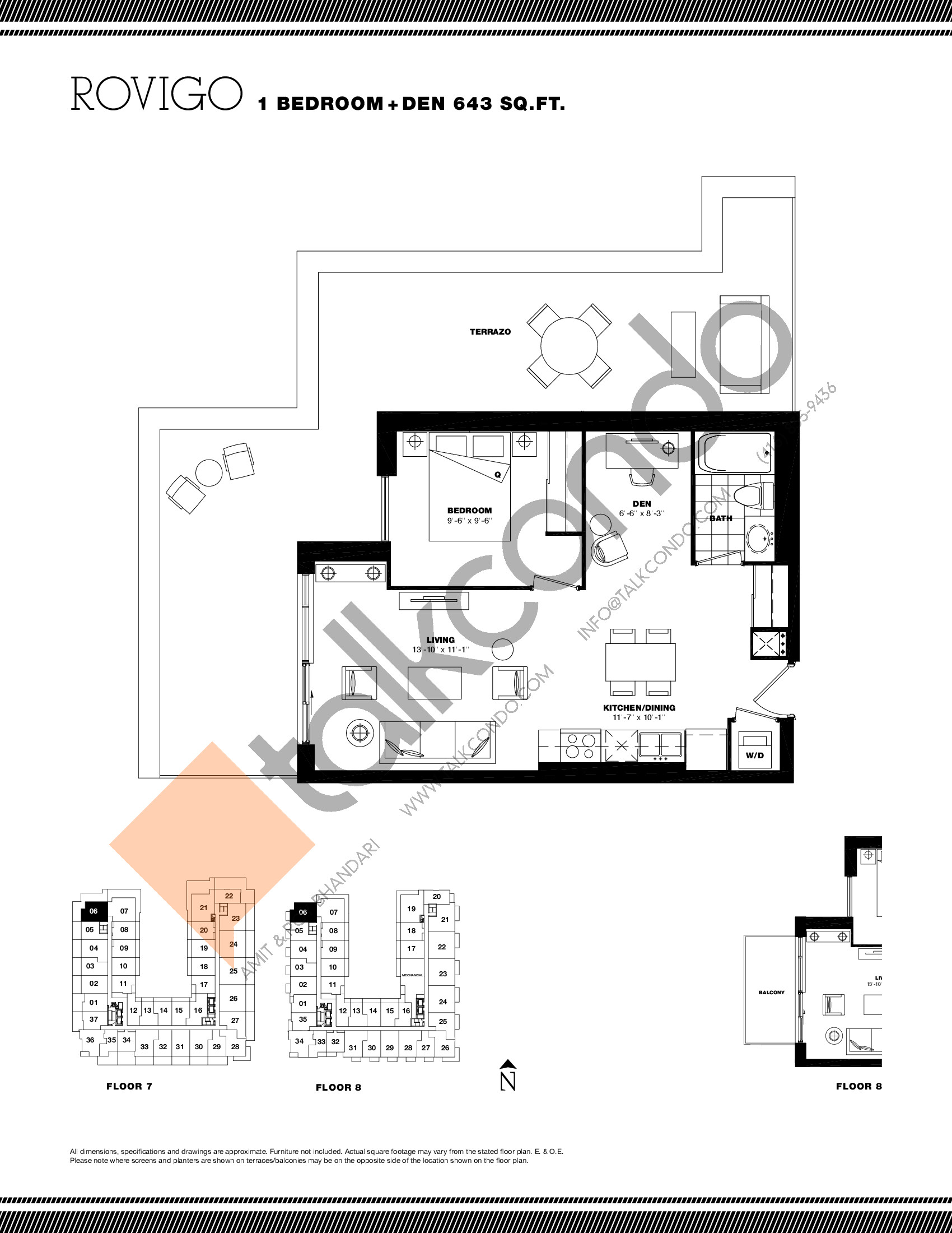 Rovigo Floor Plan at Residenze Palazzo at Treviso 3 Condos - 643 sq.ft