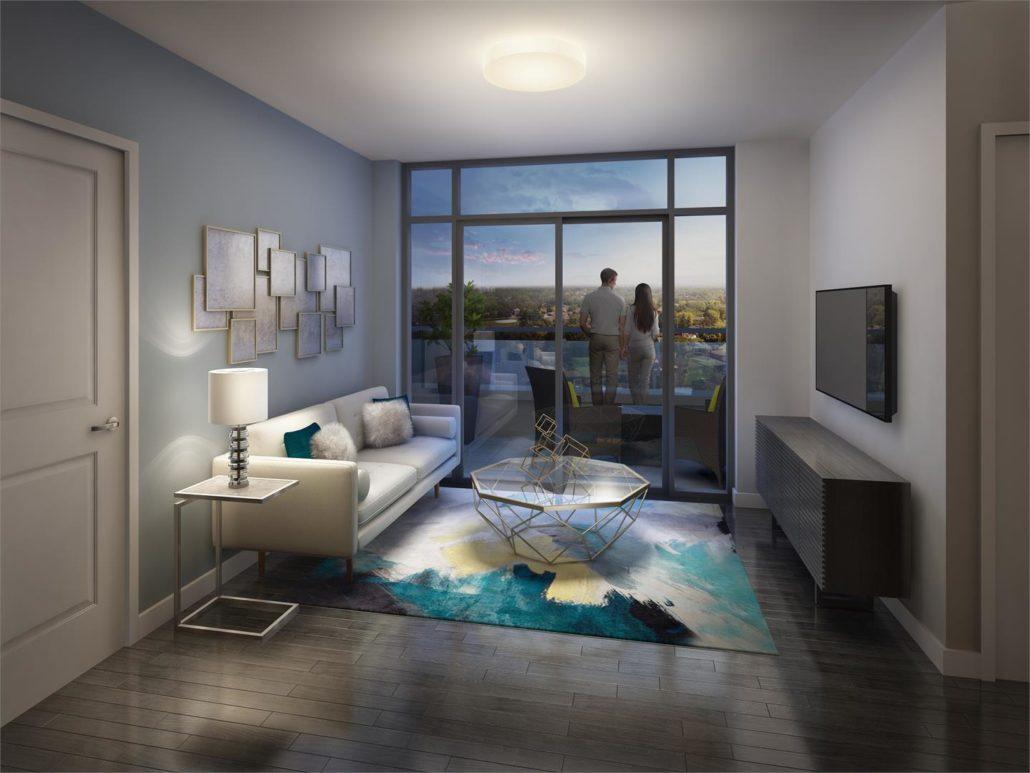 Barra on Queen Suite Living Room