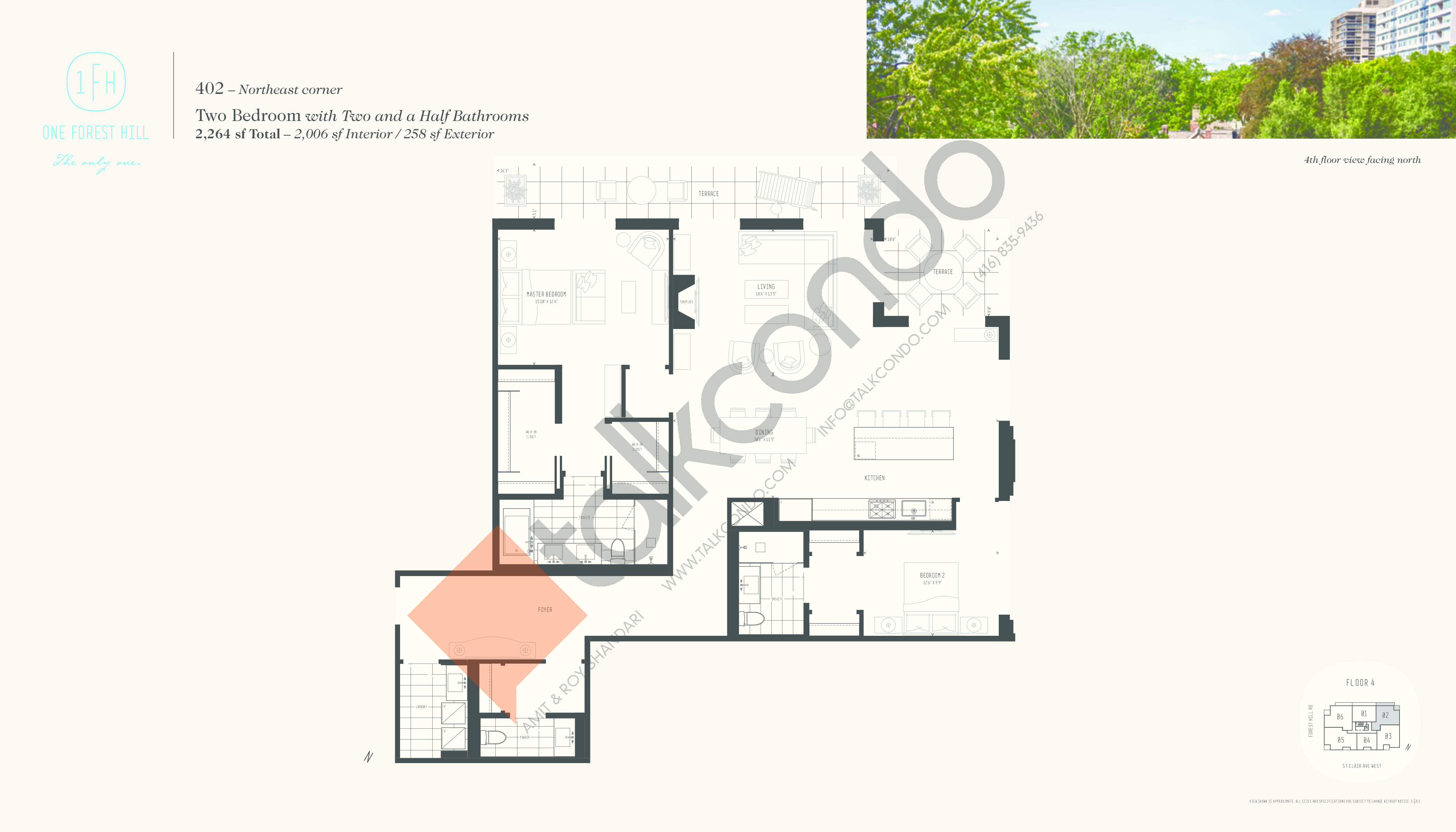 402 Floor Plan at One Forest Hill Condos - 2006 sq.ft