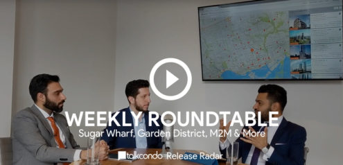 Amit Bhandari Mike Santos and Roy Bhandari discuss the latest new condos around a roundtable
