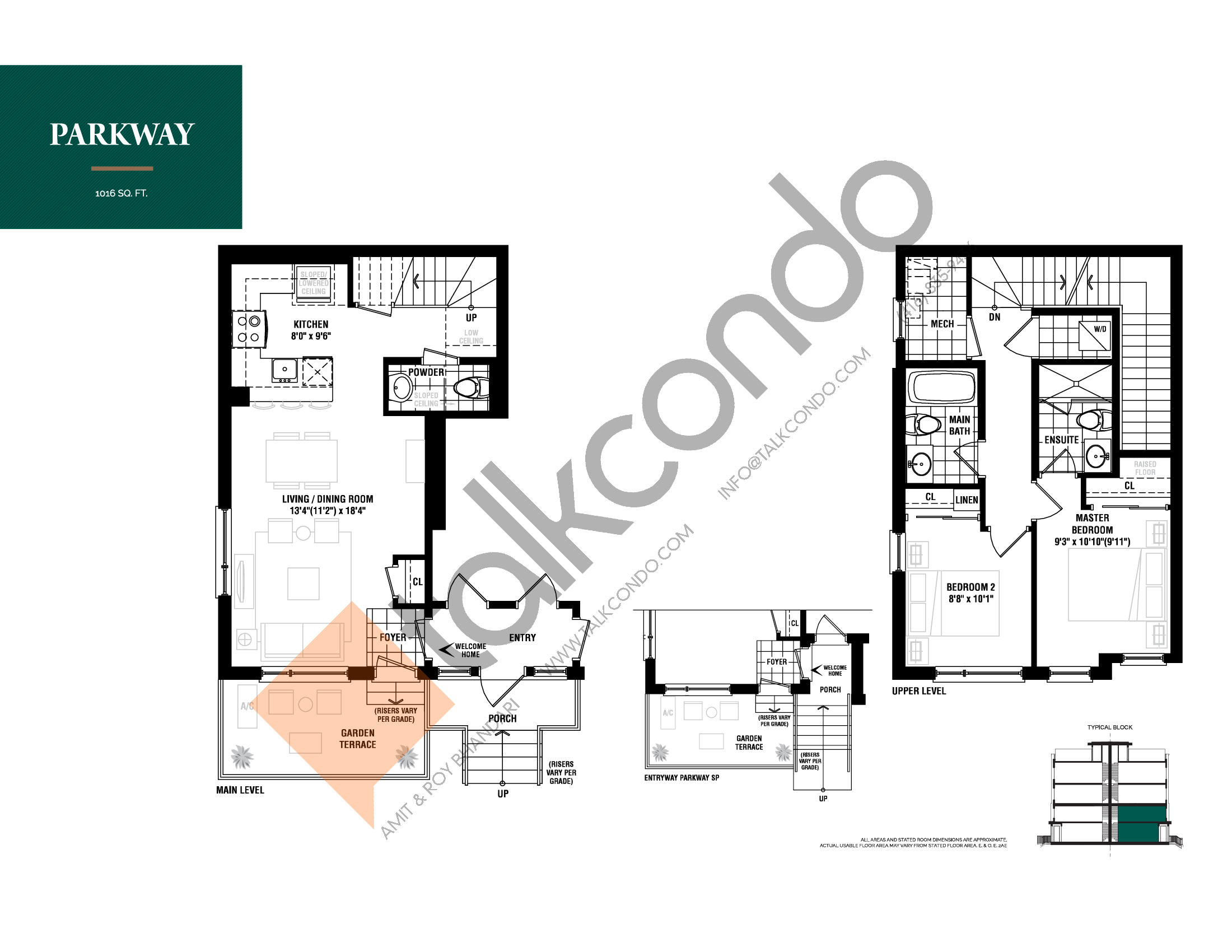 Parkway Floor Plan at The Way Urban Towns - 1016 sq.ft