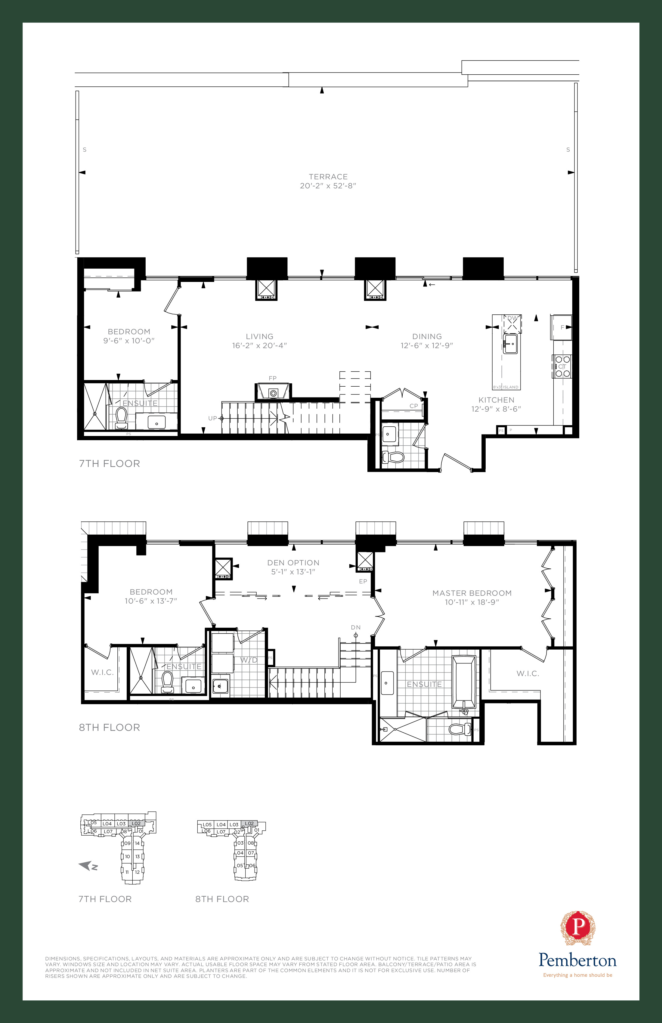 Loft A - Building A Floor Plan at 9th & Main Condos + Towns - 2050 sq.ft