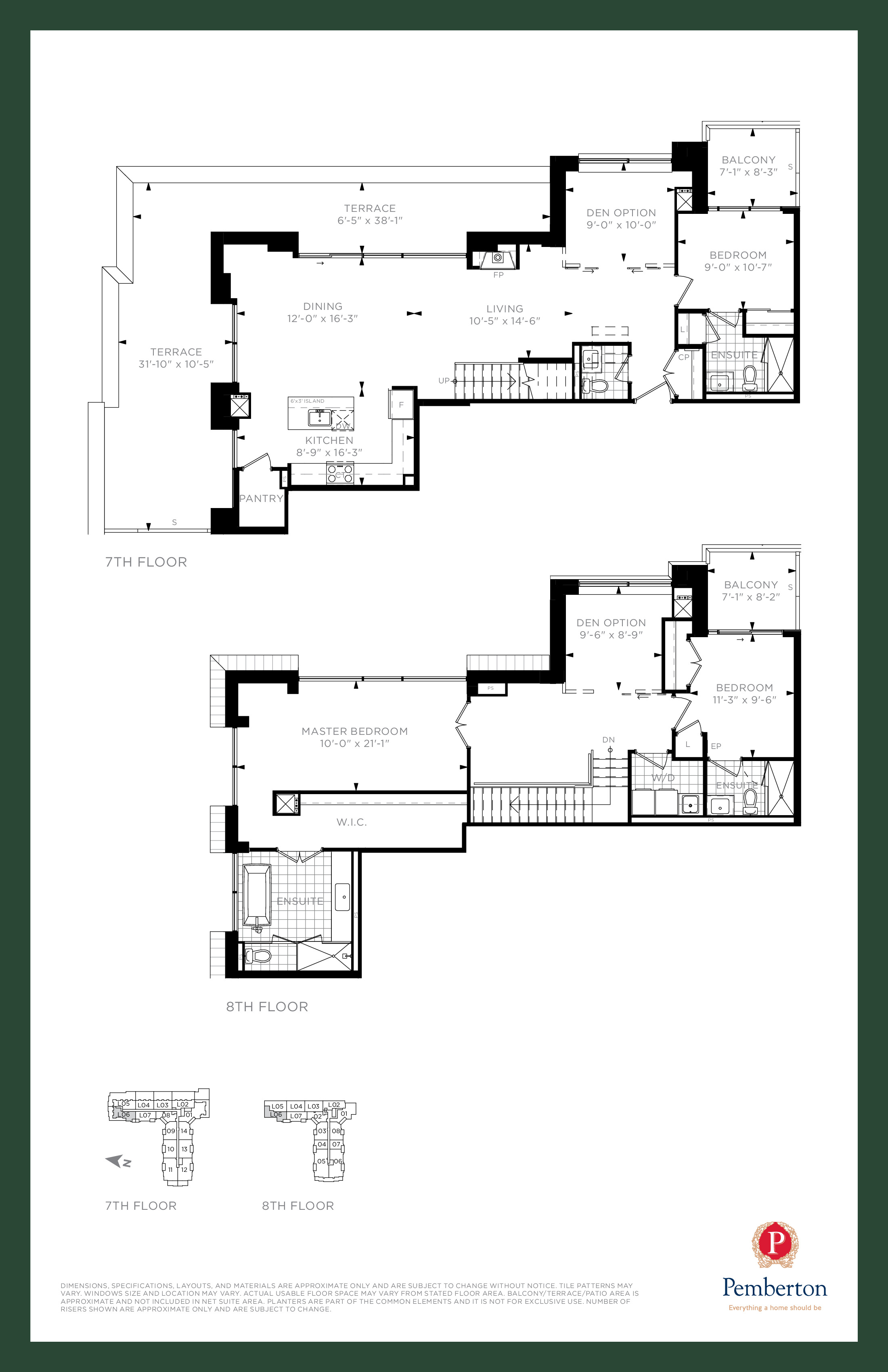 Loft D - Building A Floor Plan at 9th & Main Condos + Towns - 2200 sq.ft