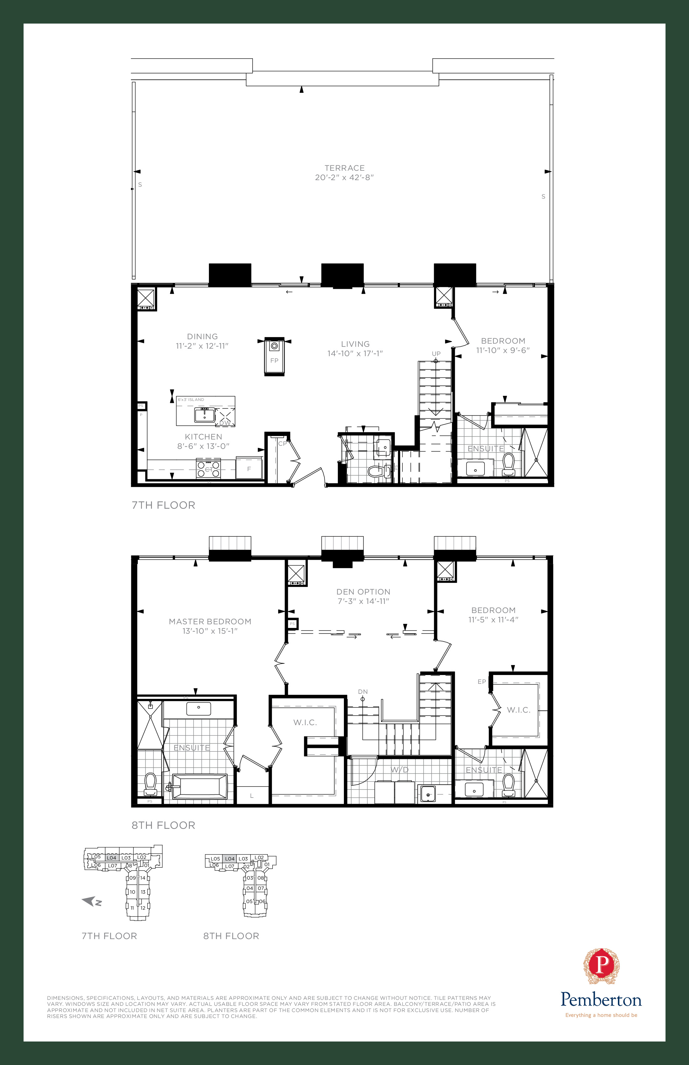 Loft F - Building A Floor Plan at 9th & Main Condos + Towns - 2055 sq.ft