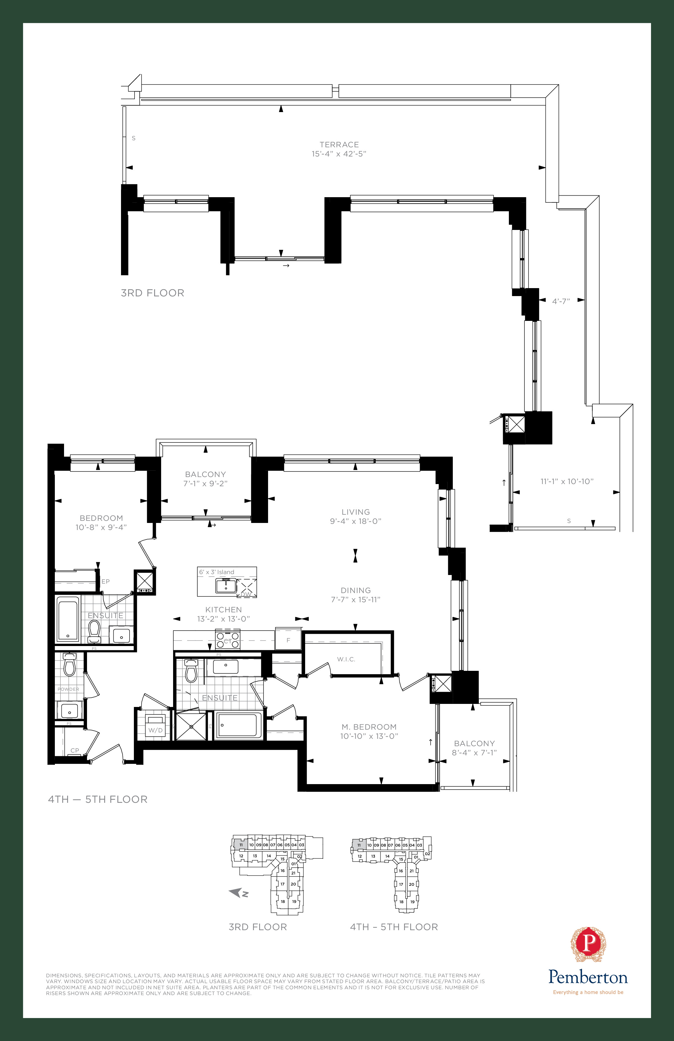 Suite L - Building A Floor Plan at 9th & Main Condos + Towns - 1250 sq.ft