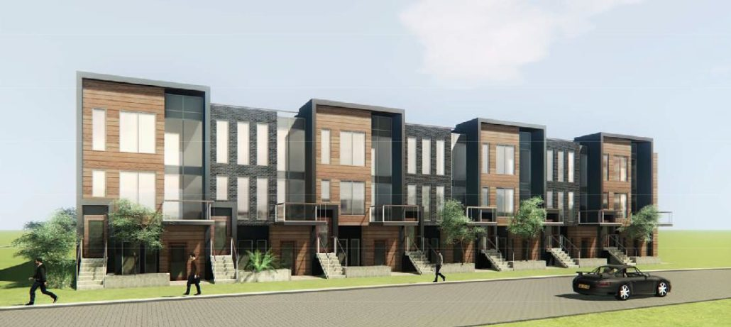 4Hundred East Mall Stacked Town Homes Rendering