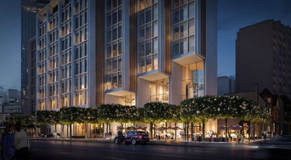 Fifty Scollard Condos Podium Rendering