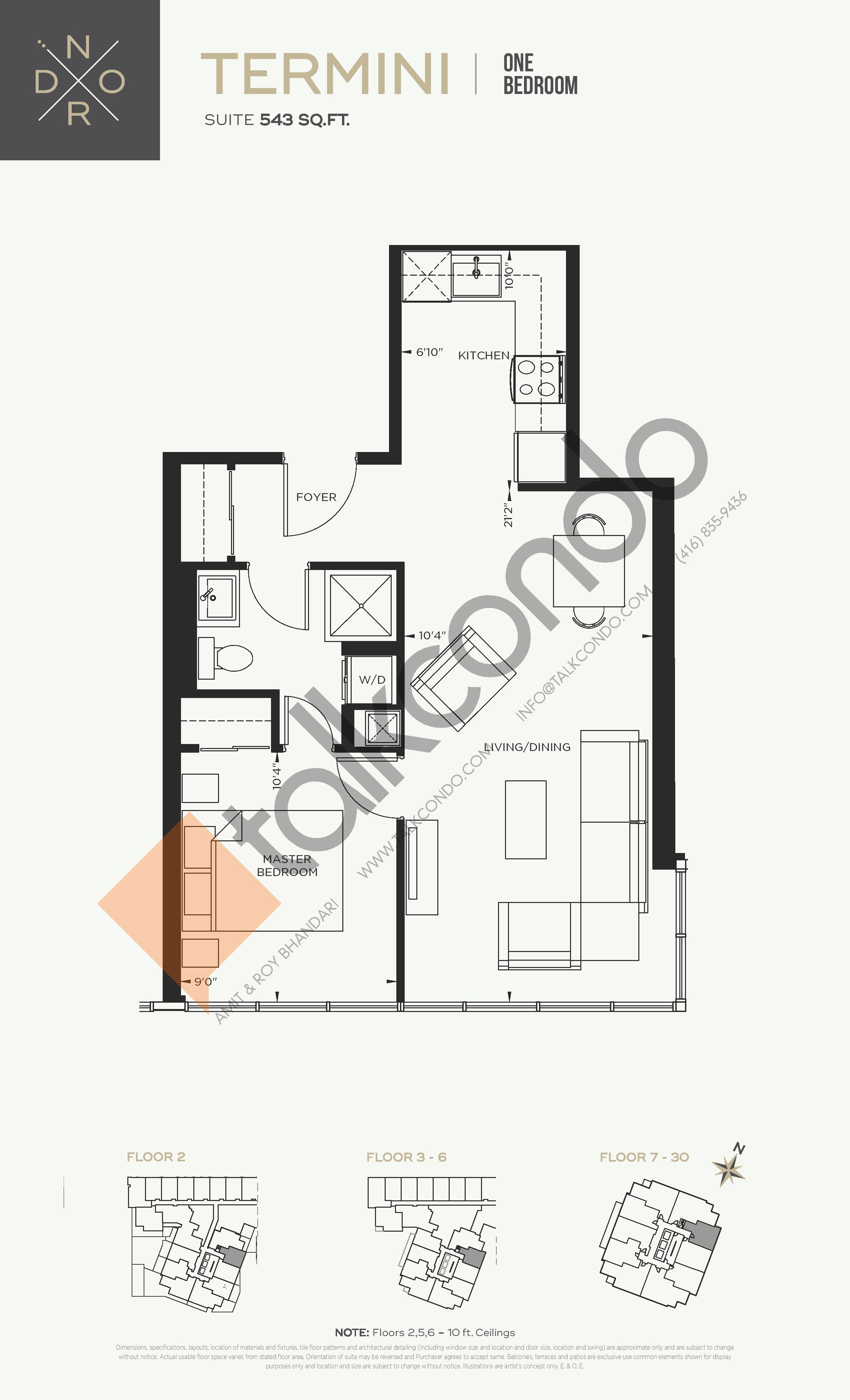 Termini Floor Plan at Nord West at Expo City Condos - 543 sq.ft