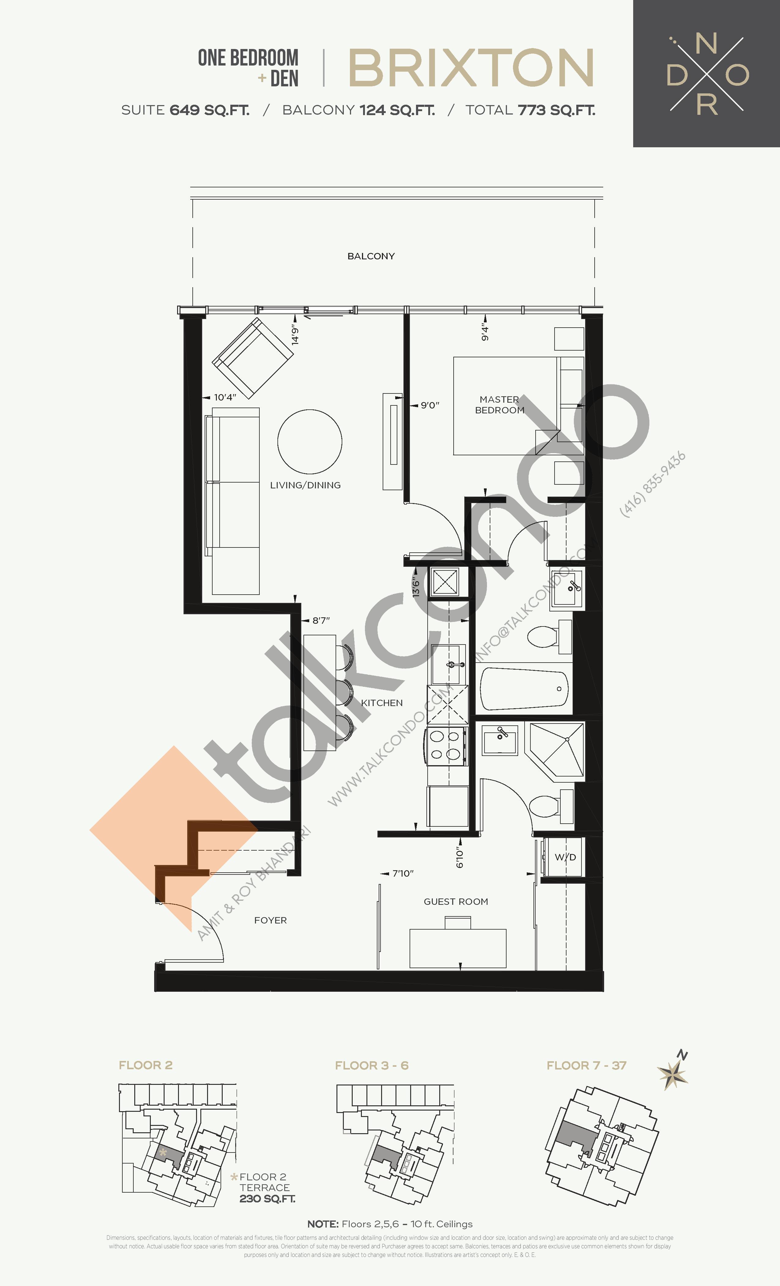 Brixton Floor Plan at Nord West at Expo City Condos - 649 sq.ft
