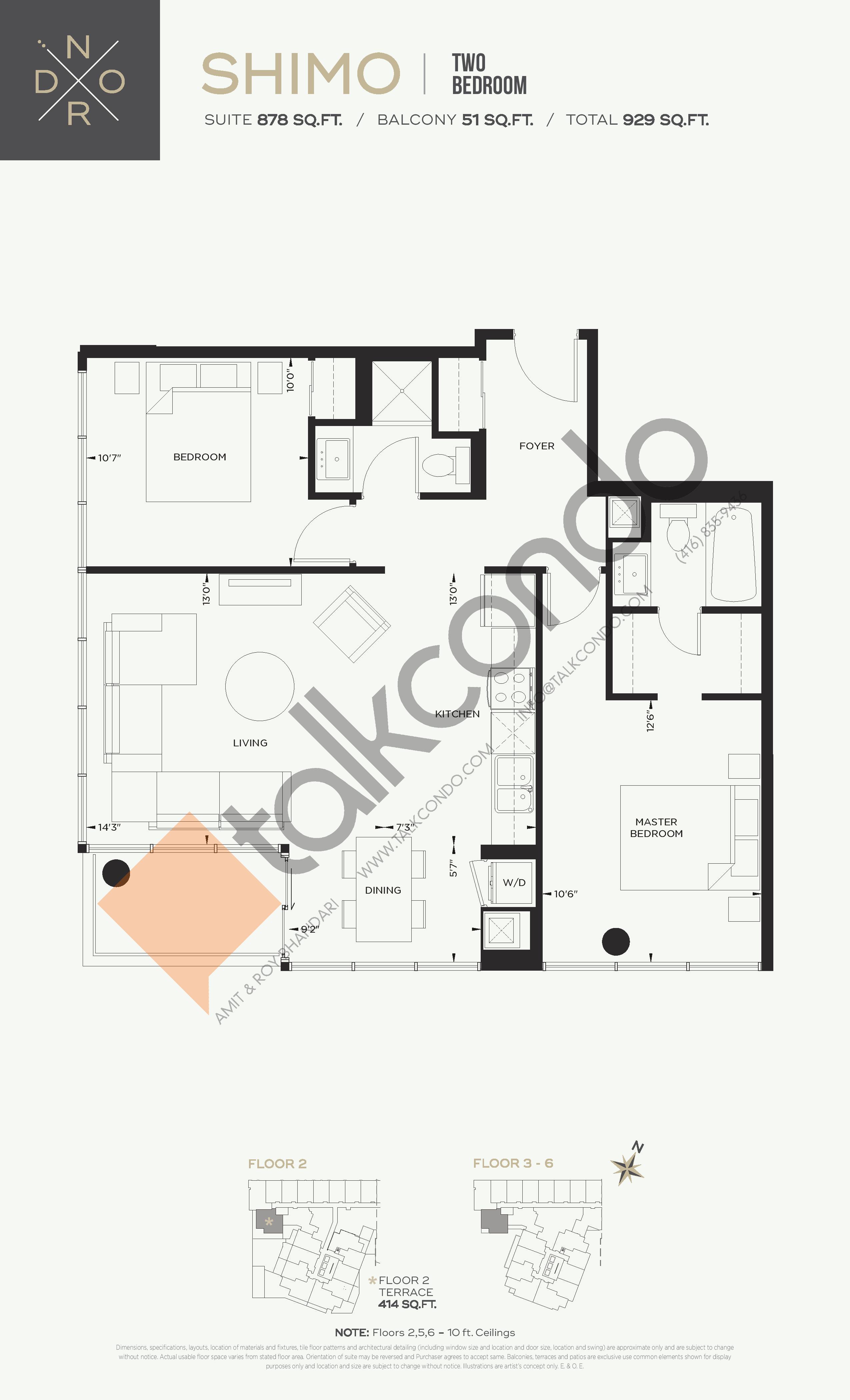 Shimo Floor Plan at Nord West at Expo City Condos - 878 sq.ft