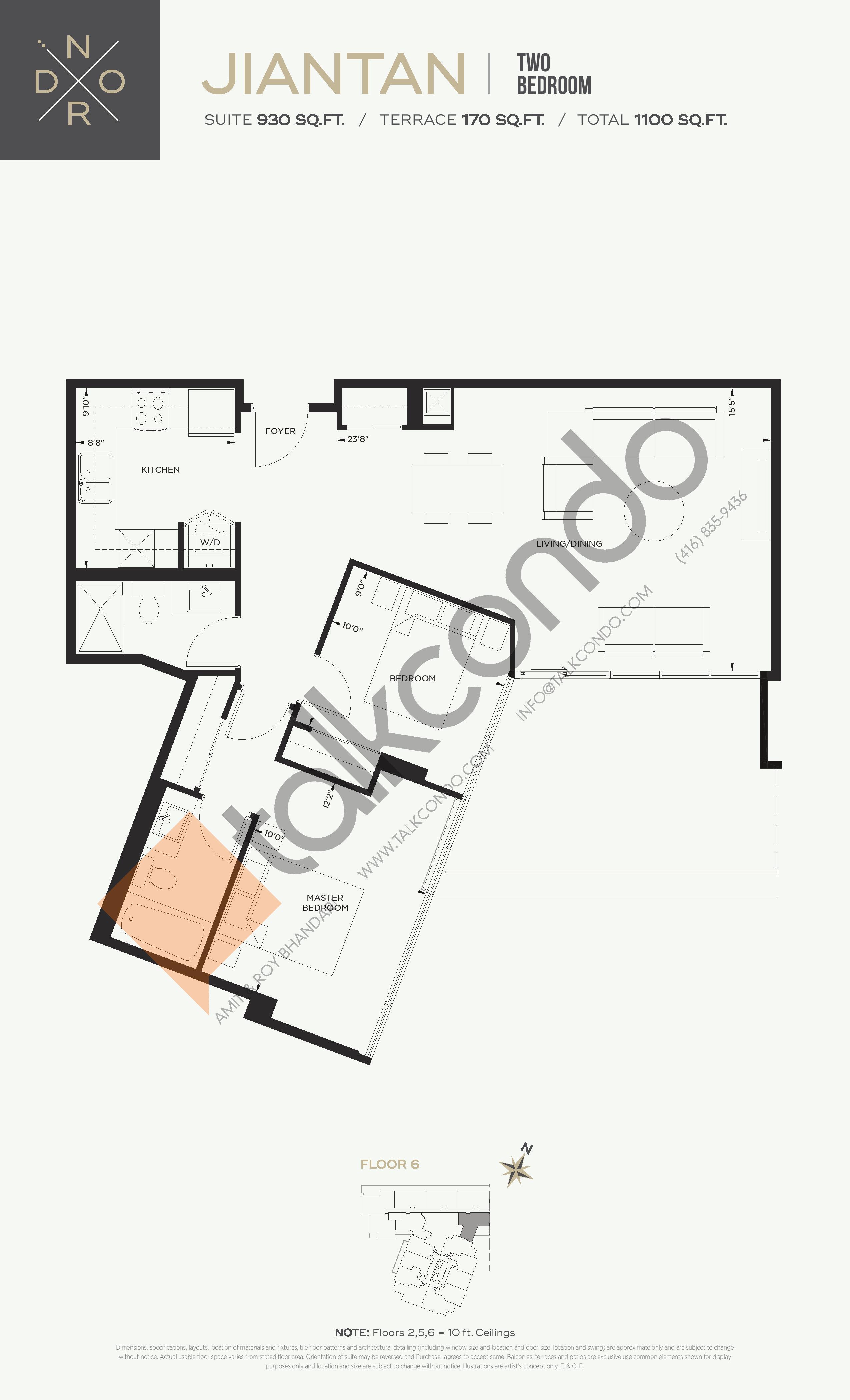 Jiantan Floor Plan at Nord West at Expo City Condos - 930 sq.ft