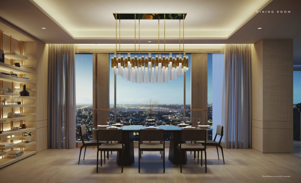 Fifty Scollard Condos Dining Room