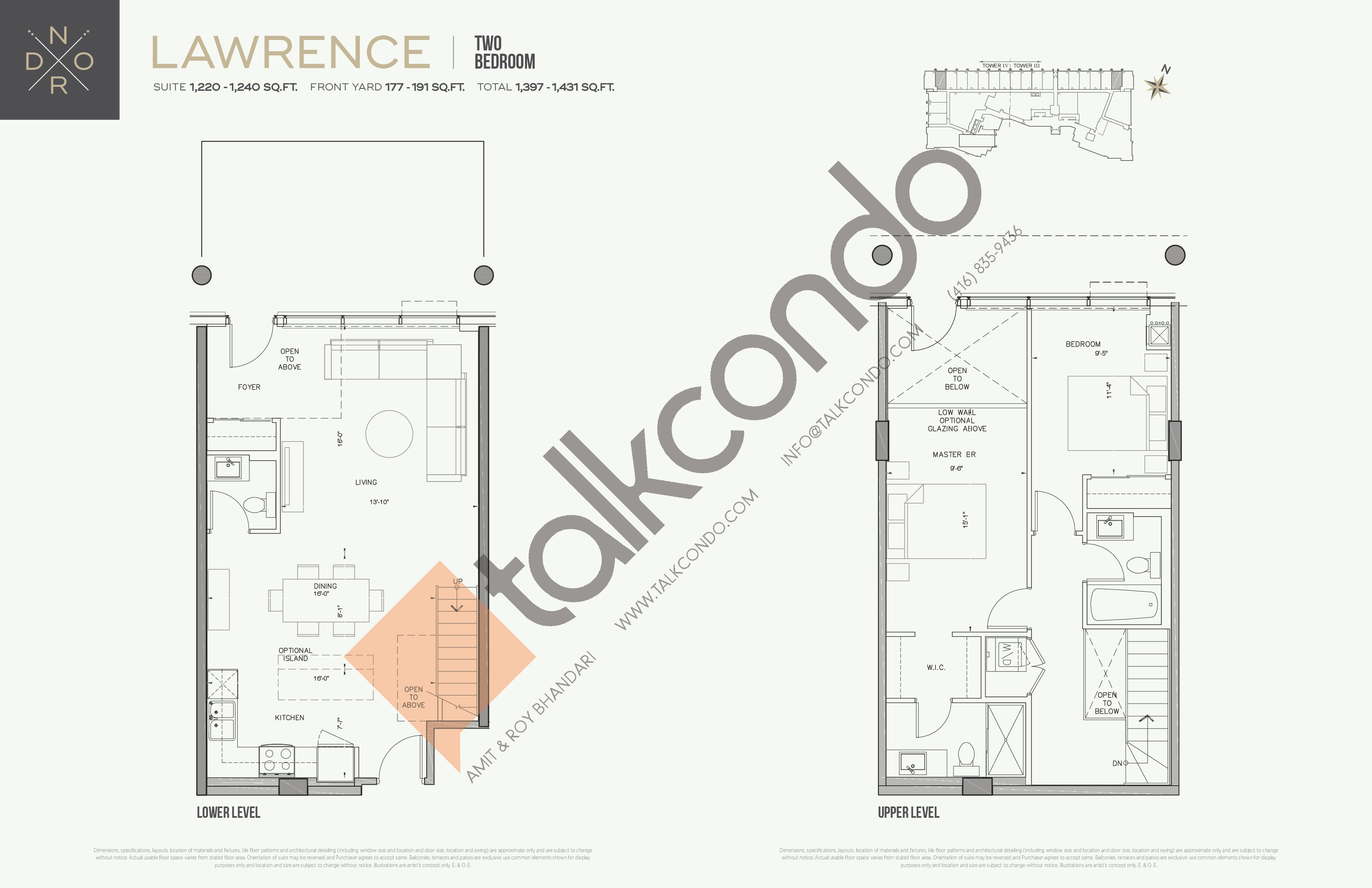 Lawrence Floor Plan at Nord West at Expo City Condos - 1240 sq.ft
