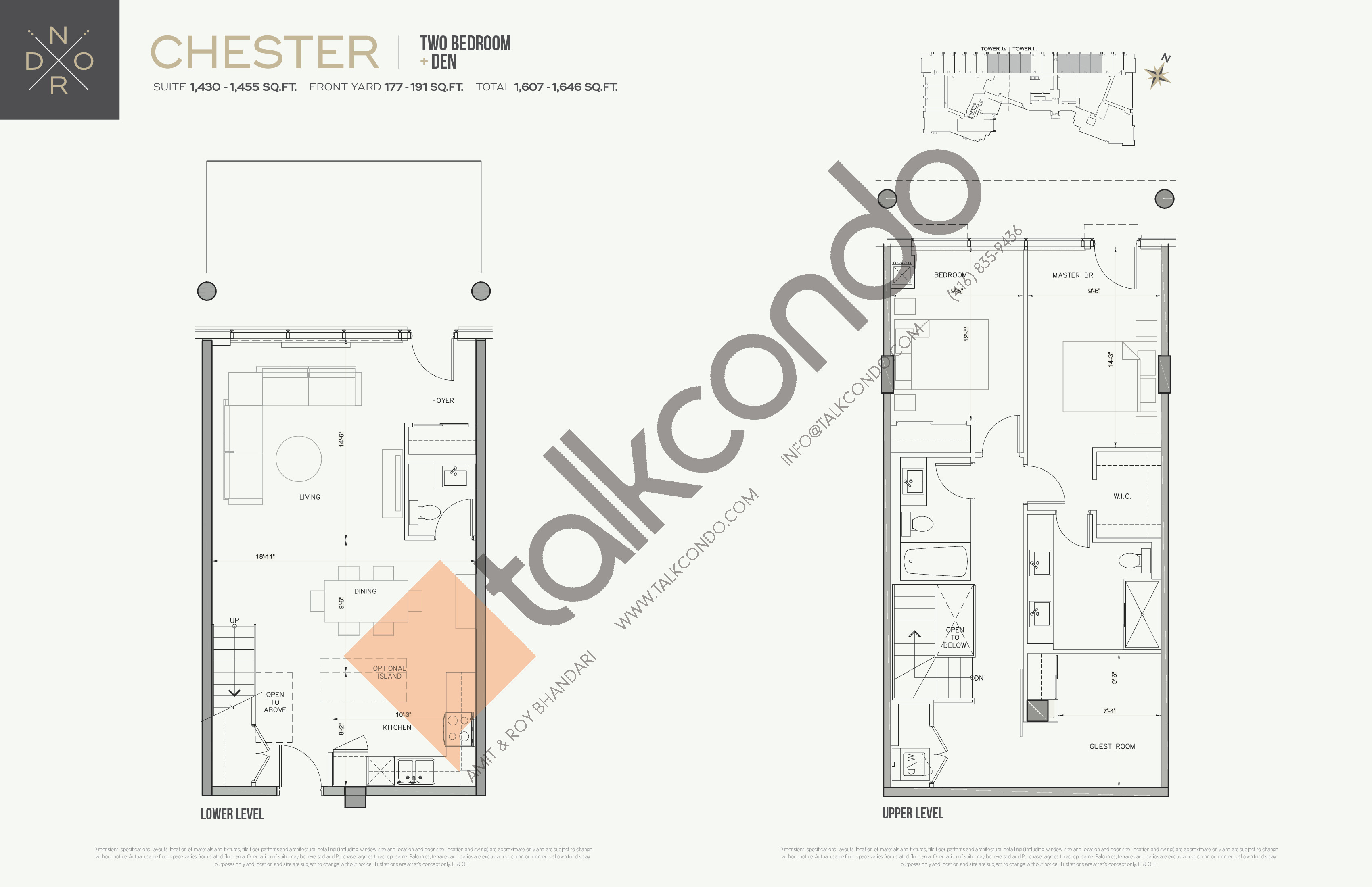 Chester Floor Plan at Nord West at Expo City Condos - 1455 sq.ft
