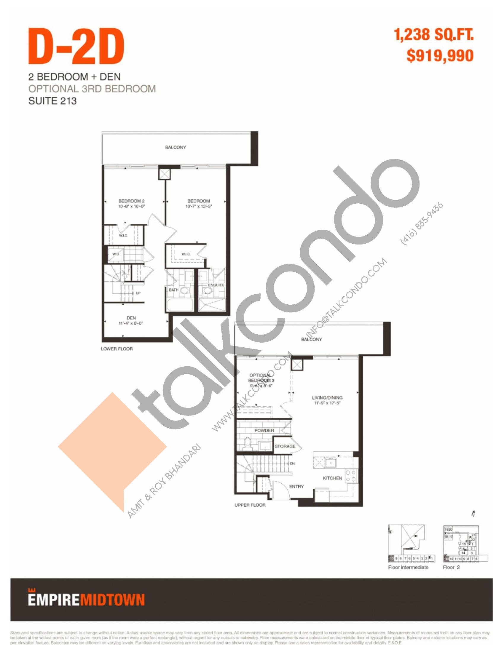 Empire Midtown Condos Floor Plans Prices Availability Talkcondo
