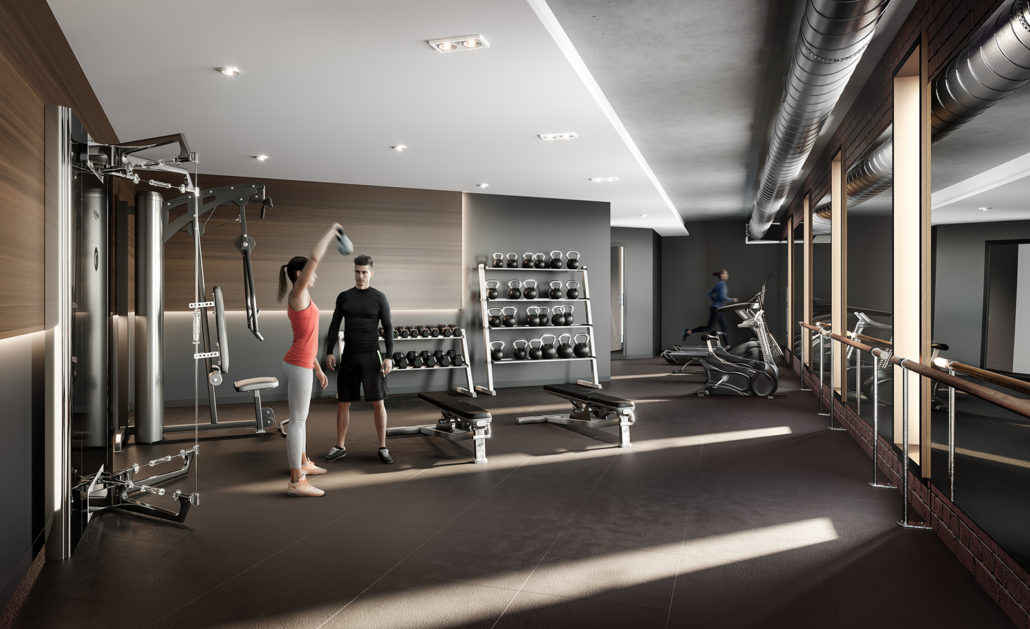 Fifty Seven Brock Condos Gym
