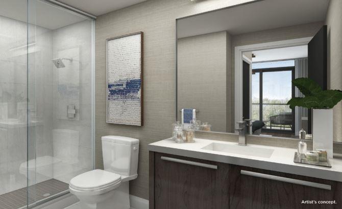 293 The Kingsway Condos Master Bathroom