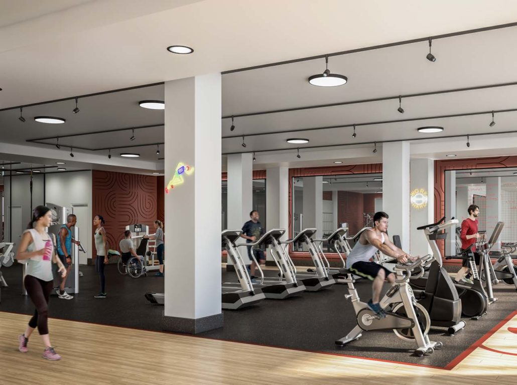 Indoor Gym at Artworks Condos