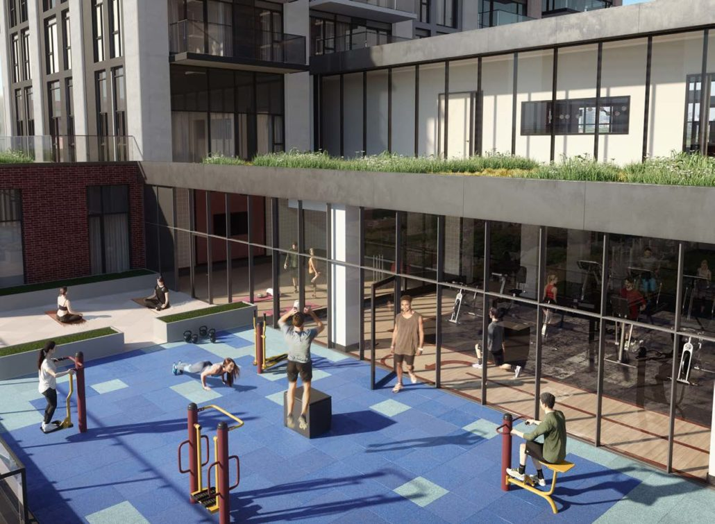 Outdoor Workout Area in Artworks Tower