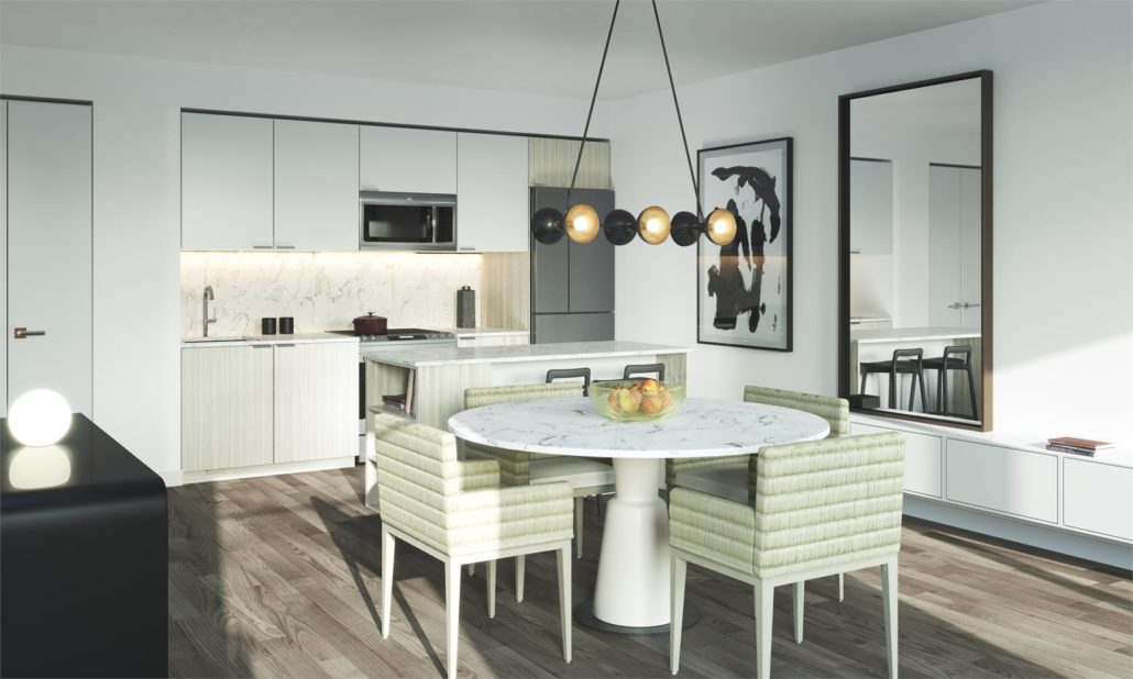 Birchcliff Townhomes Dining Area & Kitchen