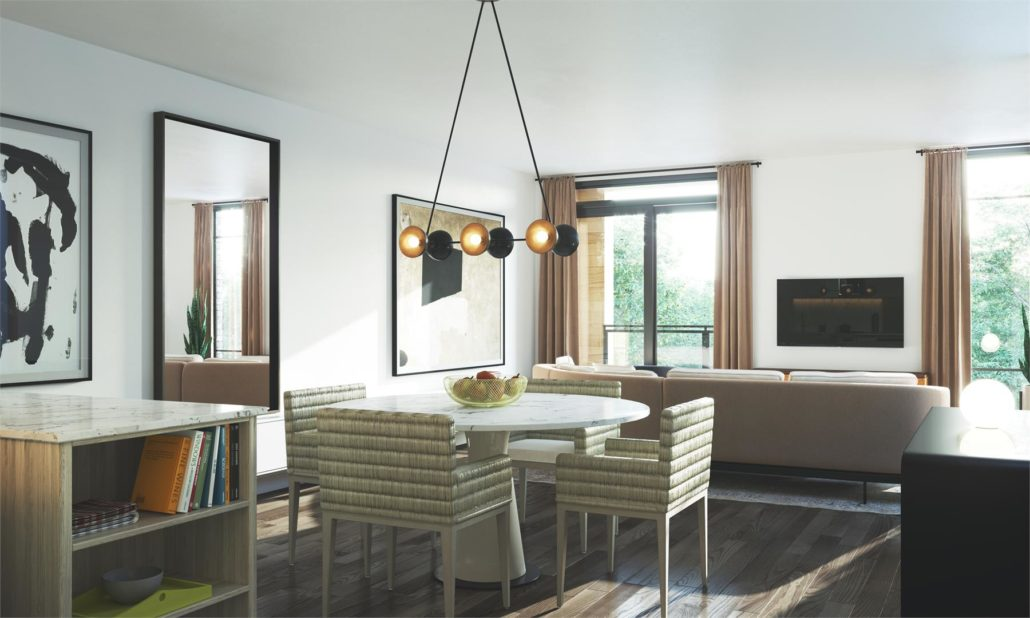 Birchcliff Townhomes Living & Dining Area