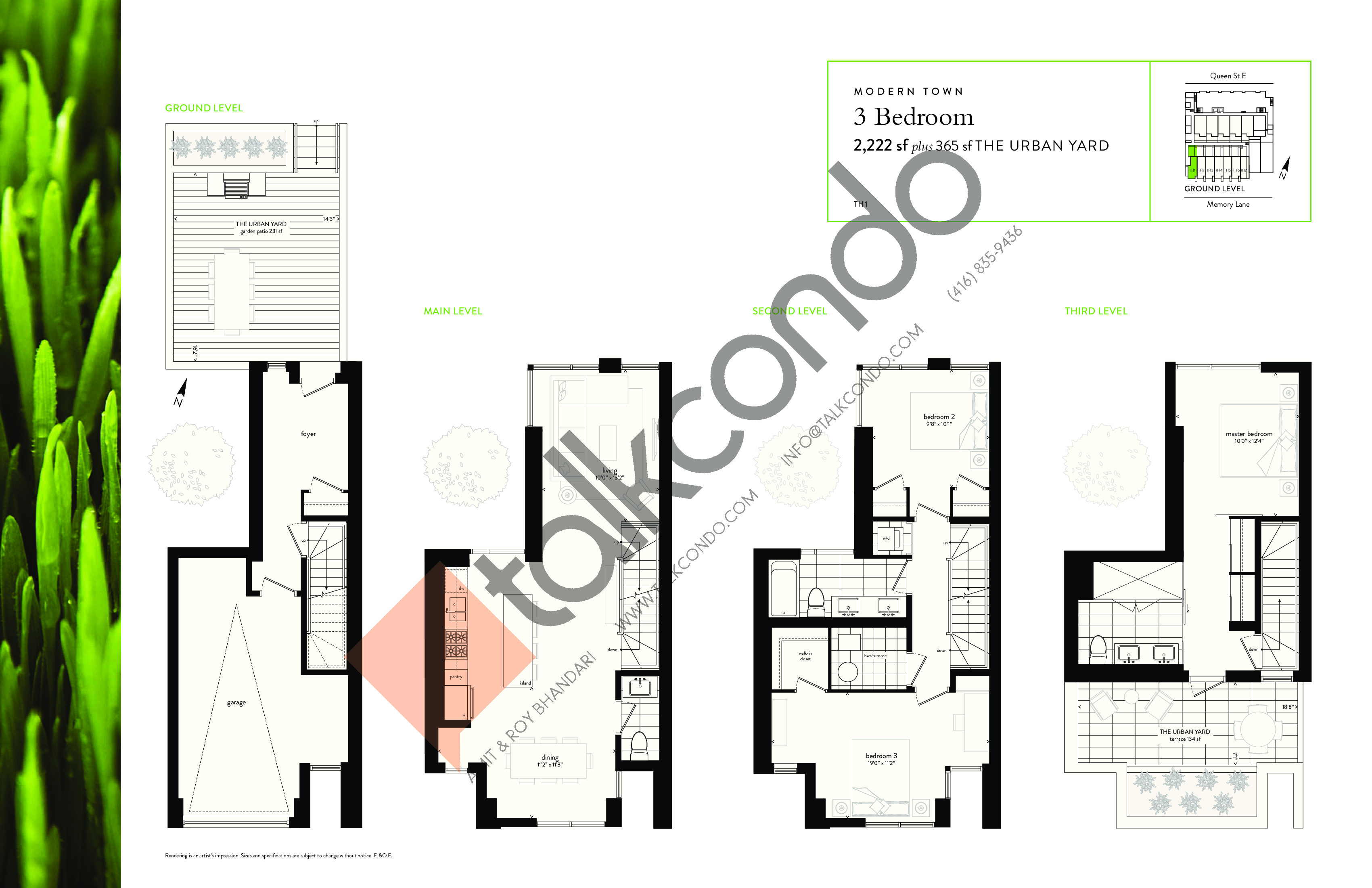 TH1 Floor Plan at George Condos & Towns - 2222 sq.ft