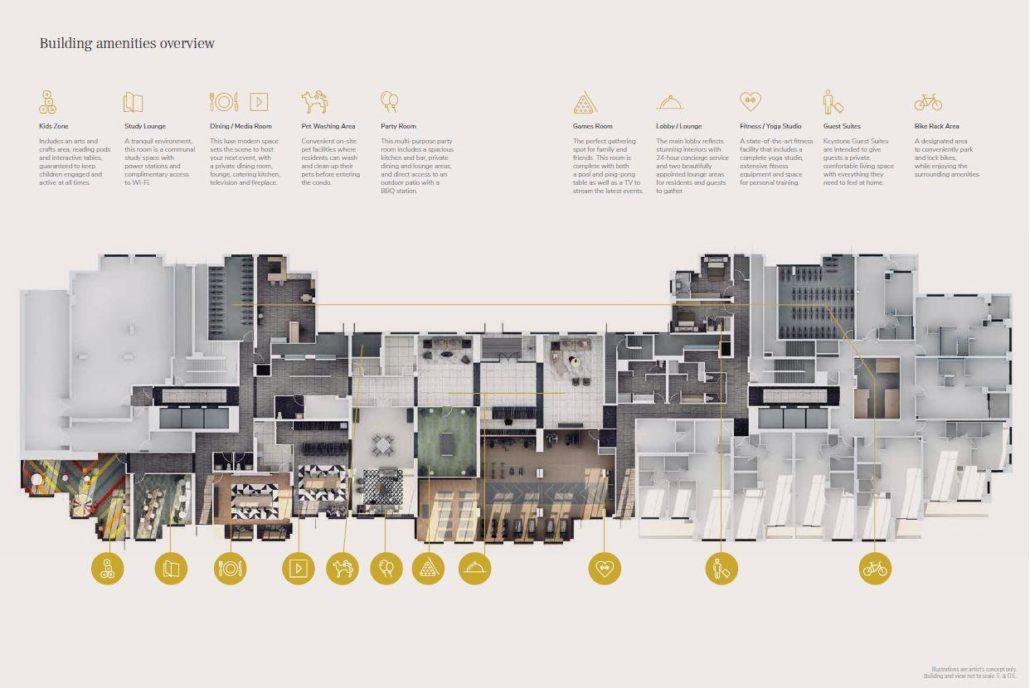 Keystone Condos Amenity Floor Plan