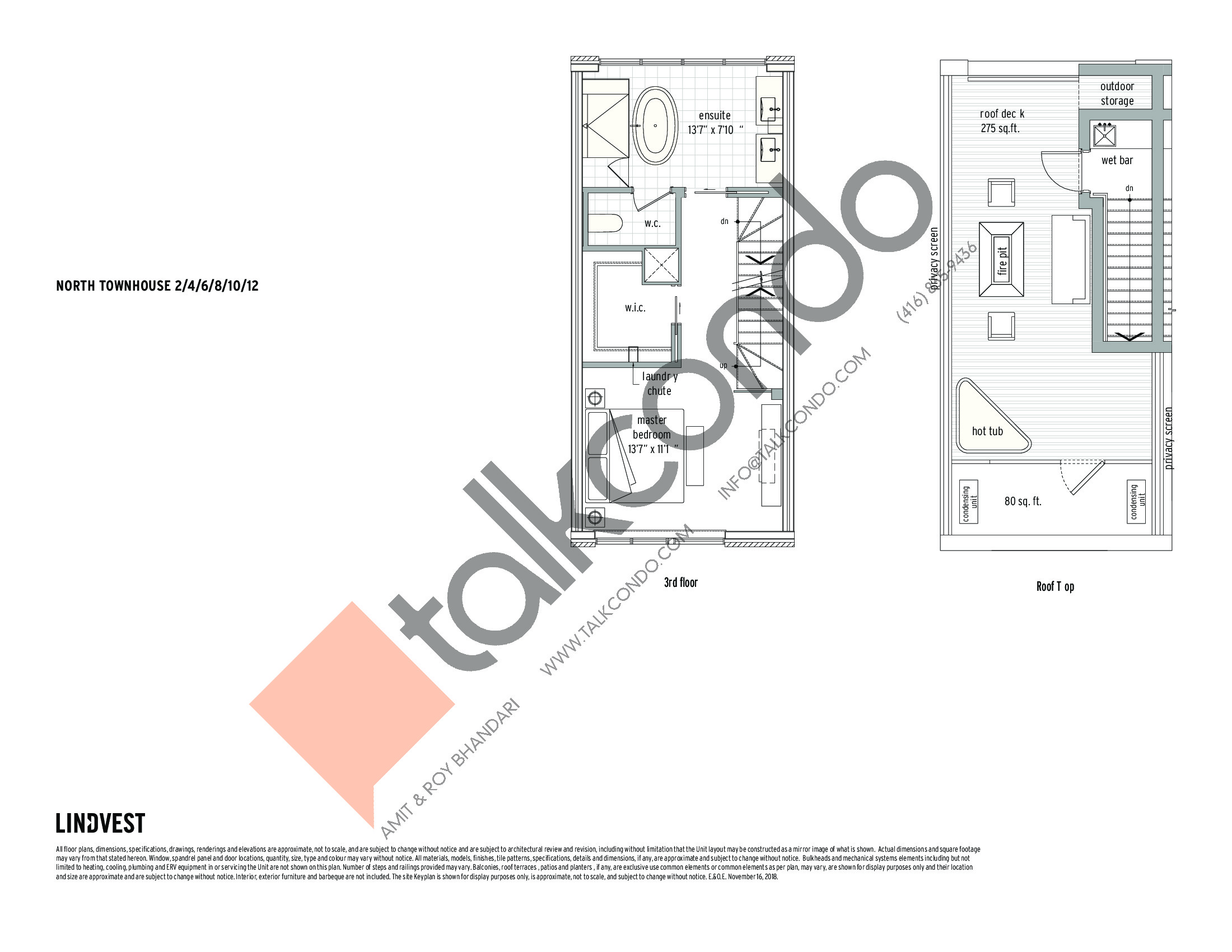 North Townhouse - 2 / 4 / 6 / 8 / 10 / 12 (2/2) Floor Plan at UltraSonic Towns - 1460 sq.ft