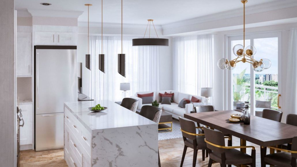 Blackstone Condominiums Interior Rendering