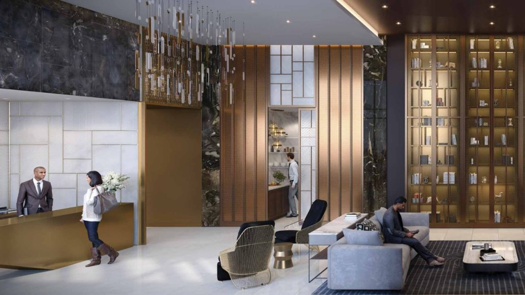 Line 5 South Tower Condos Lobby