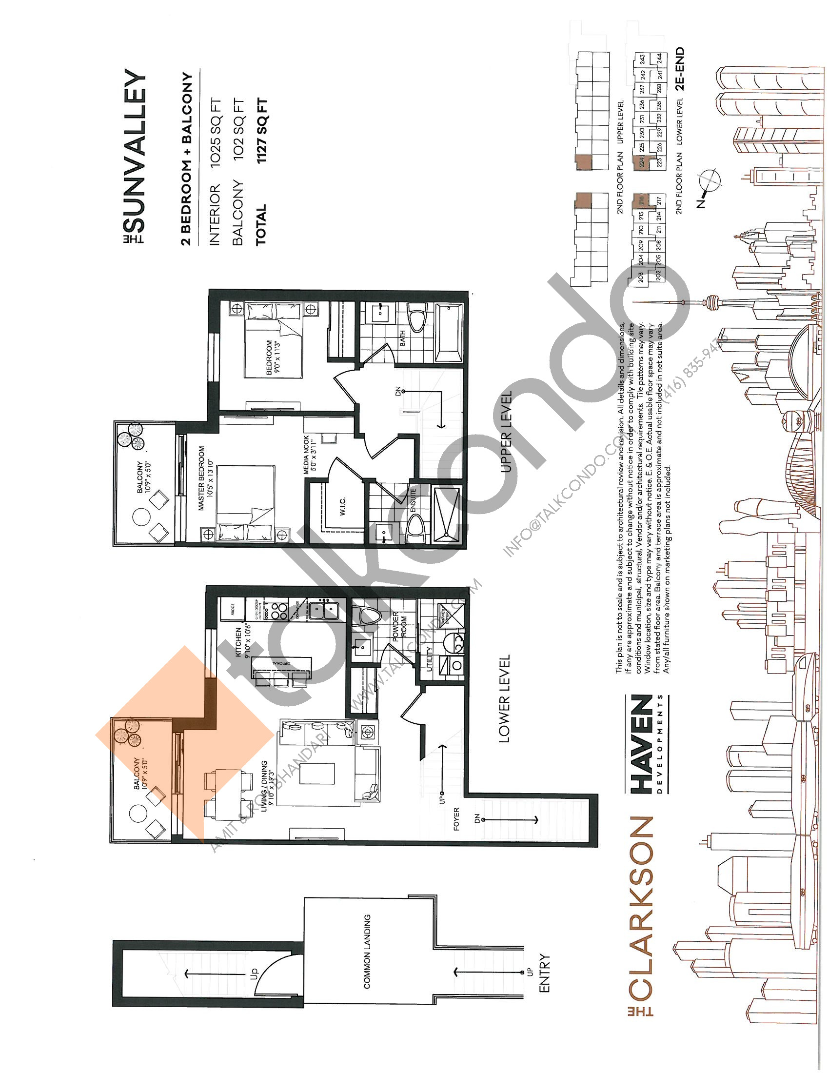 The Sunvalley Floor Plan at The Clarkson Urban Towns - 1025 sq.ft