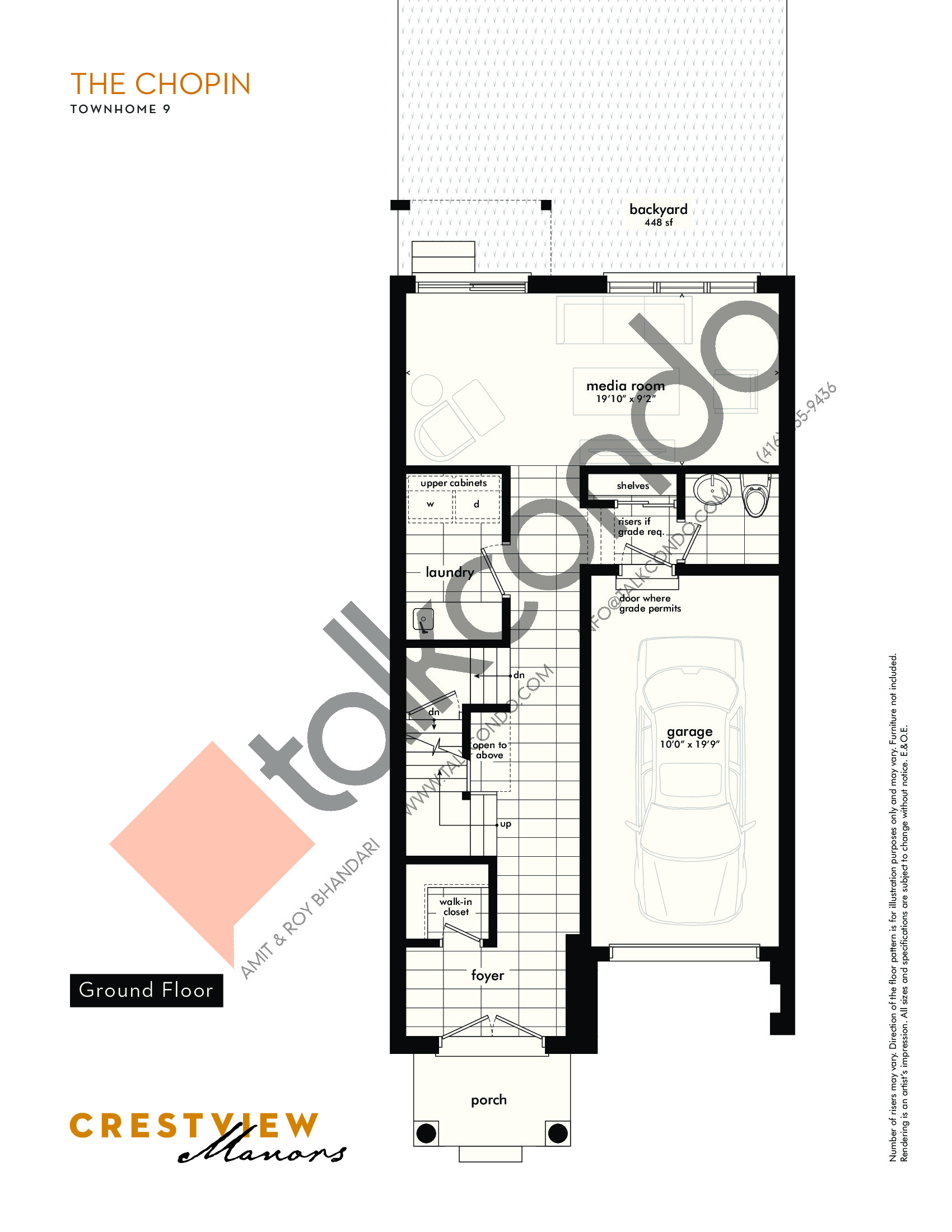 The Chopin - Ground Floor Floor Plan at Crestview Manors - 2241 sq.ft