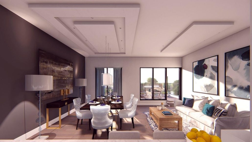 Nahid on Broadview Interior Rendering