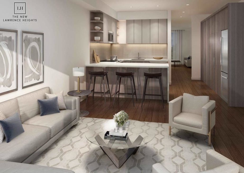 The New Lawrence Heights Interior Rendering