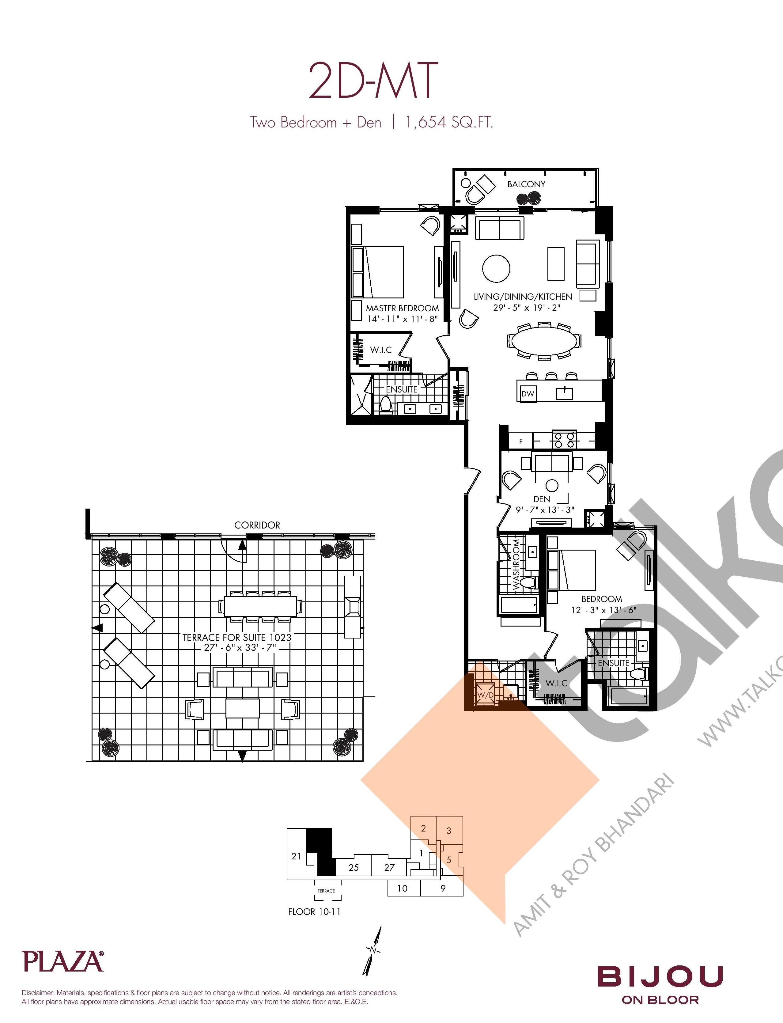 2D-MT Floor Plan at Bijou On Bloor Condos - 1654 sq.ft