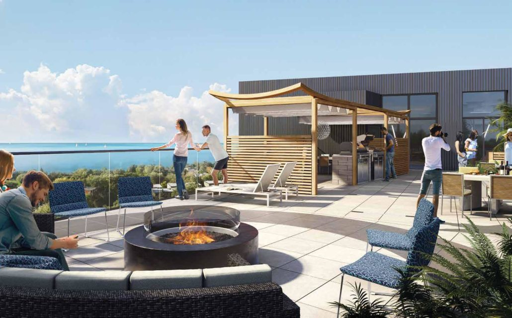 Merge Condos Rooftop overlooking lake ontario